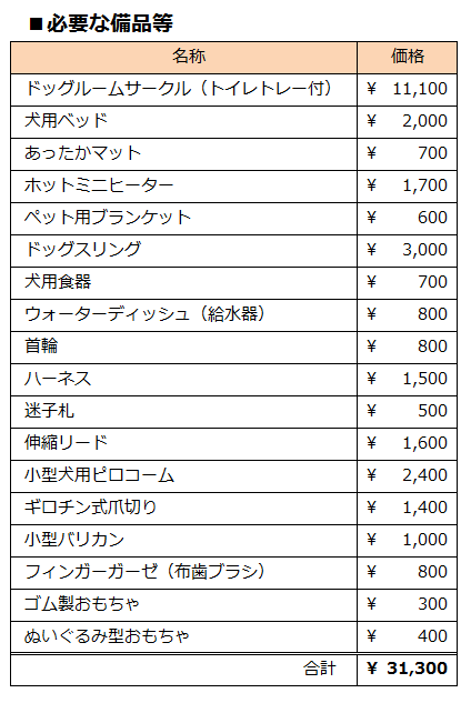 初期費用1